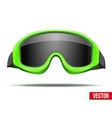 Classic green snowboard ski goggles with black vector image vector image