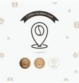 coffee location icon vector image vector image
