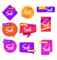 colorful sale sticker set design vector image vector image