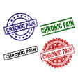 damaged textured chronic pain stamp seals vector image