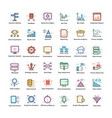 data analytics icons pack vector image vector image