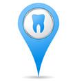 dentist location icon vector image