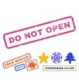 Do Not Open Rubber Stamp vector image vector image