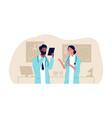 doctorc couple interracial male female nurses vector image vector image