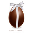 easter chocolate egg gift bow realistic vector image vector image