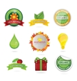 elegance bio and eco web symbols vector image