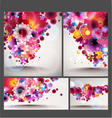 flower spring background set vector image vector image