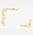 gold ribbon frame golden serpentine design vector image
