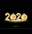 golden hristmas balls on black background vector image vector image
