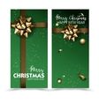 Greeting cards with golden bows and copy space vector image