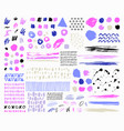 hand drawn abstract card pastel colors vector image