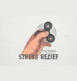 hand fidget spinner stress relief toys detailed vector image vector image