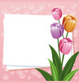 happy mothers day card flowers ornament empty vector image vector image