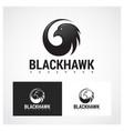 hawk symbol vector image vector image