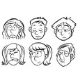 human faces with different emotions vector image vector image
