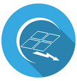 icon solar panel with a long shadow vector image