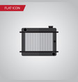 isolated radiator flat icon heater element vector image vector image