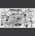 jinan china city map in black and white color in vector image vector image
