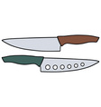 Kitchen knives vector image vector image