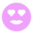 lady love smiley halftone icon vector image