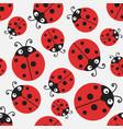 ladybug pattern seamless ladybird design vector image