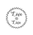 love love rose grass circle frame background vector image vector image