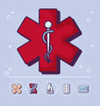 medicine and medical design vector image vector image