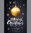 merry christmas card with golden confetti holiday vector image