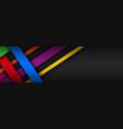 modern colorful overlapped stripes header vector image vector image