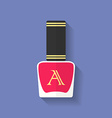 Nail polish nail varnish icon Flat style vector image