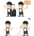 Nerd Boy Customizable Mascot 15 vector image vector image