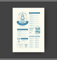 oktoberfest menu vintage typography template beer vector image