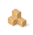 parcel boxes warehouse parts vector image vector image