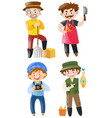 people doing different jobs vector image vector image
