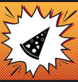 pizza simple sign comics style icon on vector image