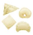realistic 3d dumplings ravioli vareniki vector image