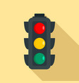 regulation traffic lights icon flat style vector image