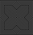 seamless geometric pattern - dark gray vector image vector image