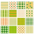 seamless patterns with clover vector image