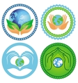 set ecology emblems vector image