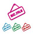 Set of big sales element simple