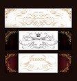 set of luxury templates for menu logos vector image