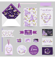 Set of Wedding Stationary vector image vector image