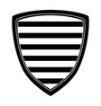 shield with stripes icon vector image vector image