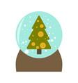 snow globe icon flat design style vector image