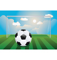 Soccer Goal with Ball vector image vector image
