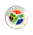 south africa sign vintage grunge imprint vector image vector image