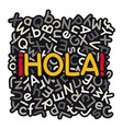 spanish language learning banner vector image vector image