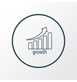 stock growth icon line symbol premium quality vector image vector image