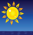 sun and sea background vector image vector image